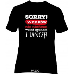 "T-shirt ""Sorry!"" Czarny"