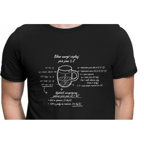 Oryginalna koszulka Bilans energetyczny piwa