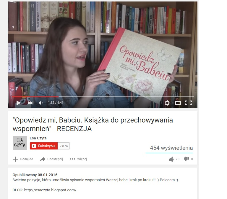 esa czyta - wideorecenzja