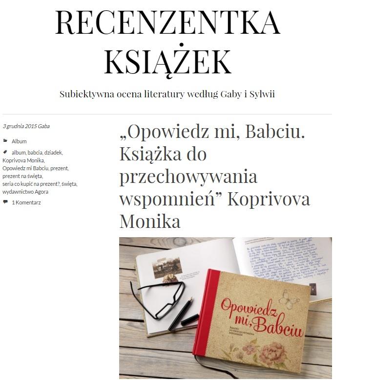 recenzentka książek - Gaba